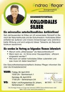 Kolloidales Silber Vortrag 08.04.2016
